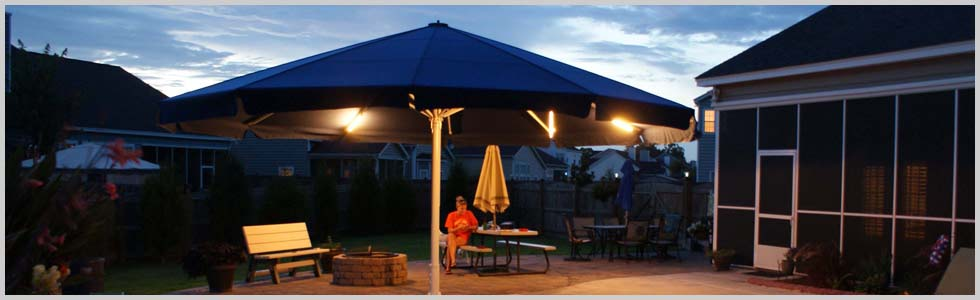 Lighted Large Patio Umbrella