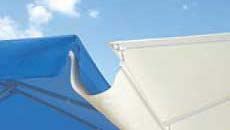 Giant Umbrellas - Large Commercial Umbrellas - Gutter with valances