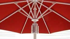 Large Patio Umbrellas - Lights on Mast
