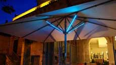 Large Patio Umbrellas - LED Lights