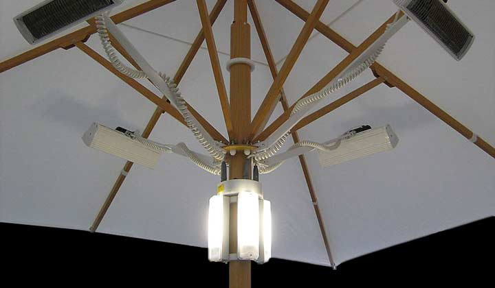 Large Patio Umbrellas - Lights